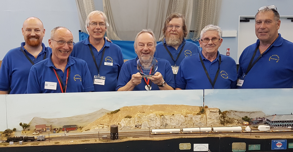 The Solent Summit Team with the 'best in show' trophy at the 2017 Victory show